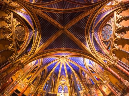 Interior view of the Sainte Chapelle, Paris, France
