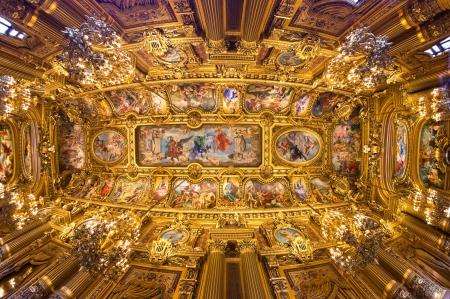 teatro antiguo: Fish eye view Paris Opera Garnier de