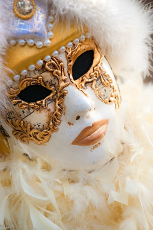 VENICE - MARCH 05  Participant in The Carnival of Venice, an annual festival that starts around two weeks before Ash Wednesday and ends on Mardi Gras on March 05 2011 in Venice, Italy Stock Photo - 17113460