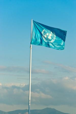 Bandera de la ONU. Foto de archivo - 17669490
