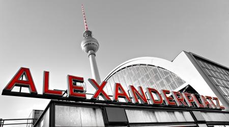 alexander: Alexander Platz in a foggy day, Berlin, Germany