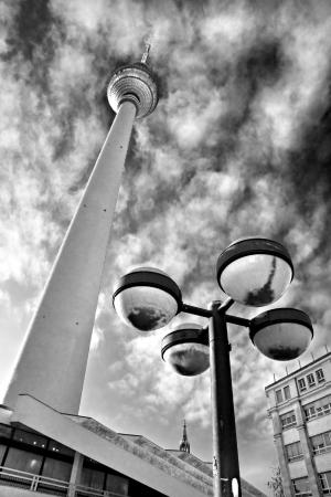 nite: TV Tower, Alexander Platz, Berlin, Germany