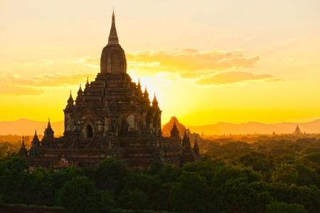 world heritage site: Shwezigon Paya, Bagan, Myanmar  Stock Photo