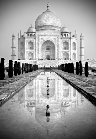 grandeur: Taj Mahal,  Agra, Uttar Pradesh, India  Stock Photo
