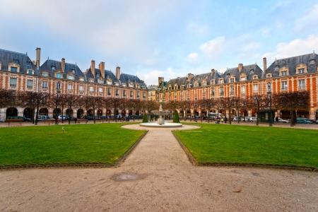 napoleon fish: The Place des Vosges in Paris City, France