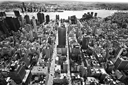 Aerial view of Manhattan, New York City  USA  photo
