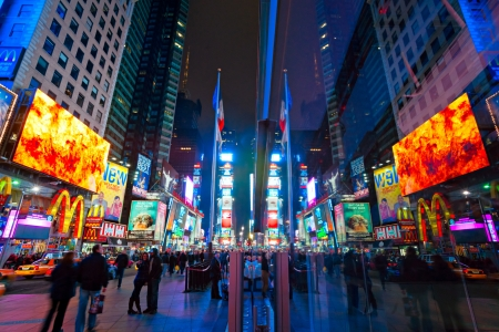 Times Square,  in Manhattan, New York City  USA  Stock Photo - 17914037