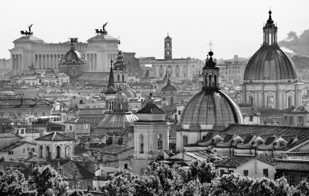 pietro: View of  Rome from Castel SantAngelo, Italy.