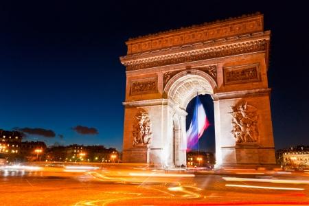 blurr: Paris, Arc de Triomphe by night