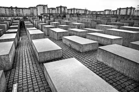 HOLOCAUST MEMORIAL, Berlijn, Duitsland. Redactioneel
