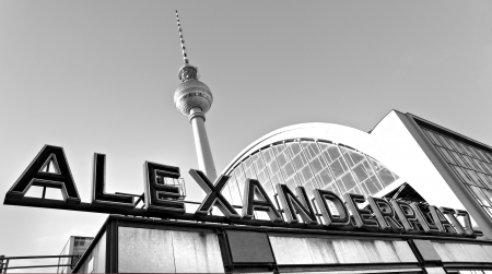 alexander: Alexander Platz in a foggy day, Berlin, Germany. Editorial
