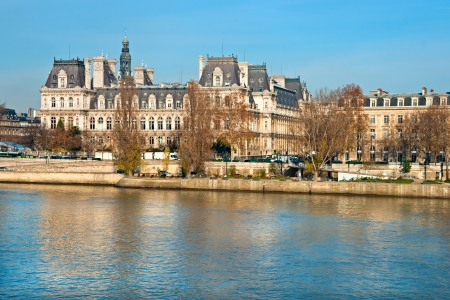 notre dame de paris: Hotel de Ville (City Hall of Paris), Paris, France.