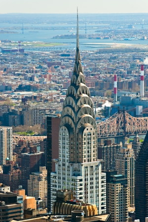 NEW YORK CITY - MARCH 24: The Chrysler building was the worlds tallest building (319 m) before it was surpassed by the Empire State Building in 1931, on March 24, 2012 in Manhattan, New York City, USA.
