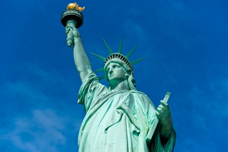 liberty torch: American symbol - Statue of Liberty. New York, USA.  Editorial