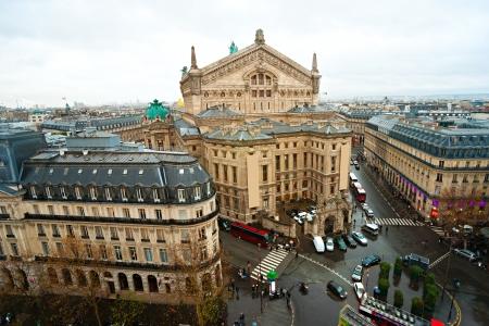 garnier: view of opera Garnier, Paris, France.