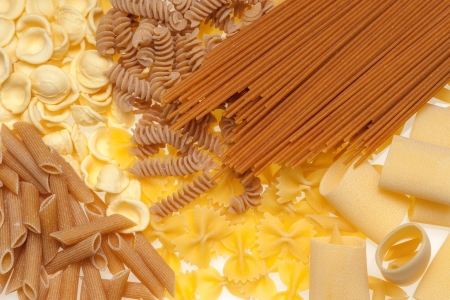 Collection of Italian Pasta isolated on white. photo