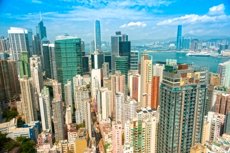 icc: Panoramic view of Hong Kong skyline  China