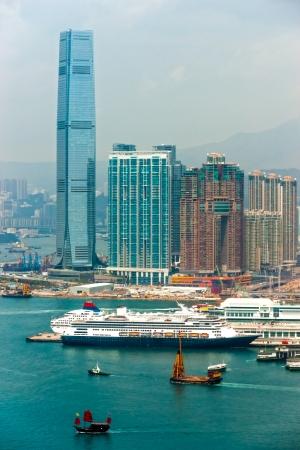 Panoramic view of Hong Kong skyline  China  photo