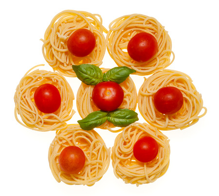Collection of Italian Pasta isolated on white  photo