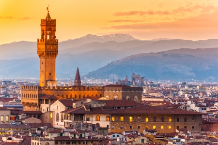 florence italy: Palazzo vecchio, Florence, Italy