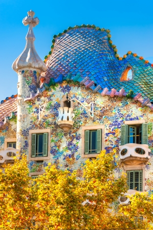 Casa Battlo ook kon het huis van de botten, Barcelona, Spanje