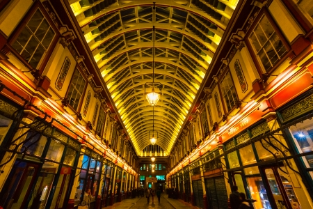 Leadenhall Market is a covered market in London ,It is one of the oldest marketsof the city, dating back to the 14th century  March 19, 2011 in London, UK