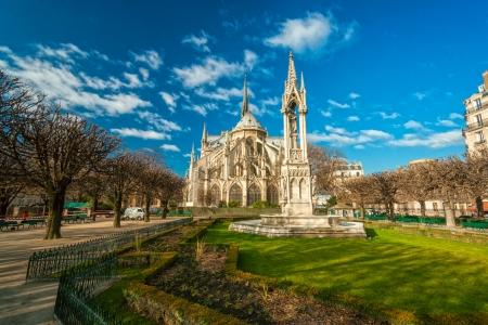 ile de france: Cathedral of Notre dame de Paris, France