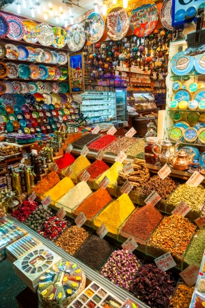 The Grand Bazaar, considered to be the oldest shopping mall in history with over 1200 jewelry,carpet, leather,spice and souvenir shops  January 25, 2011 in Istanbul, Turkey  photo