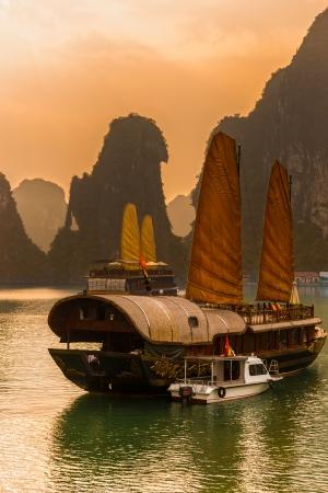 Halong Bay, Vietnam. Unesco World Heritage Site. Most popular place in Vietnam. Editorial
