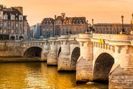 ile de france: Pont neuf, Ile de la Cite, Paris - France Stock Photo
