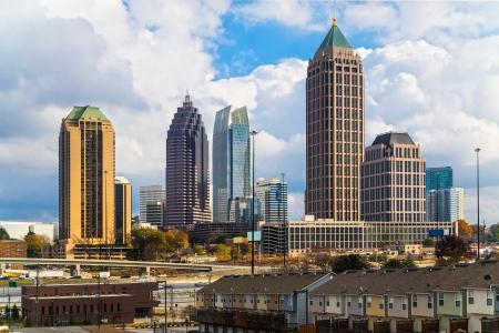 dual: Skyline of Midtown Atlanta, Georgia, USA Stock Photo