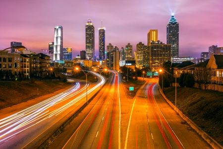 atlanta: Skyline of downtown Atlanta, Georgia, USA