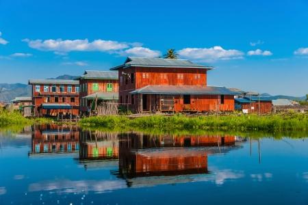 lake house: House in Inle Lake, Myanmar.