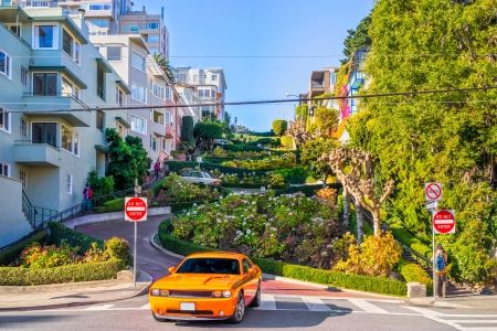 chevrolet: Lombard street on Russian hill, San Francisco, California, USA