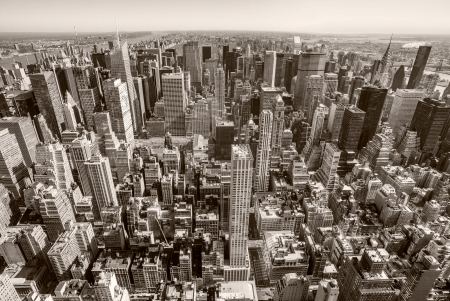 Aerial view of Manhattan, New York City  USA  Stock Photo