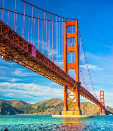 golden gate bridge: Golden Gate, San Francisco, California, USA. Stock Photo