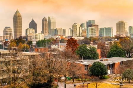 main street: Skyline of downtown Atlanta, Georgia, USA