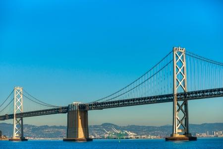 Bay bridge in San Francisco, California, USA. photo