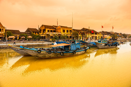 View on the old town of Hoi An. Vietnam. Unesco World Heritage Site.  photo