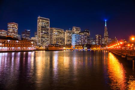 transamerica: San Francisco skyline at Sunset, California, USA. Stock Photo