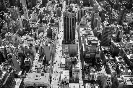 city location: Aerial view of Manhattan, New York City. USA.