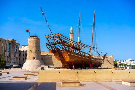 Al Fahidi Fort (1787), home to the Dubai Museum and citys oldest building. Dubai, Uae.
