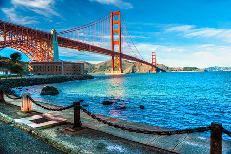 Golden Gate, San Francisco, California, USA. 免版税图像