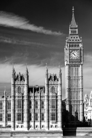 The Big Ben, the House of Parliament and the Westminster Bridge at night, London, UK. Stock Photo - 26150651