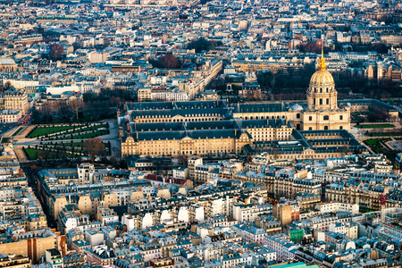 invalides: Paris, Les Invalides from the Eiffel Tower.