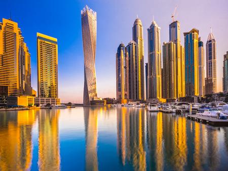 Skyscrapers in Dubai Marina. UAE Stock Photo