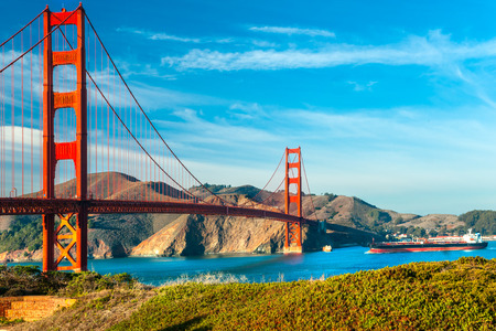 bay: Golden Gate, San Francisco, California, USA. Stock Photo