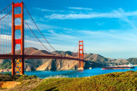 Golden Gate w San Francisco, Kalifornia, USA. Zdjęcie Seryjne