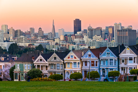 Painted ladies, San Francisco, California, USA.