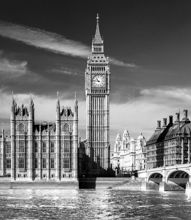 The Big Ben, the House of Parliament and the Westminster Bridge at night, London, UK. Stock Photo - 26355108